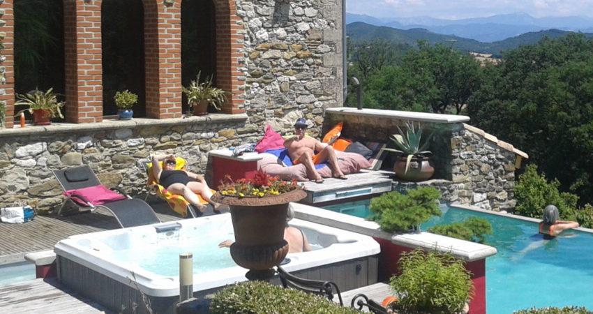 soleil - jaccuzi - piscine - nature